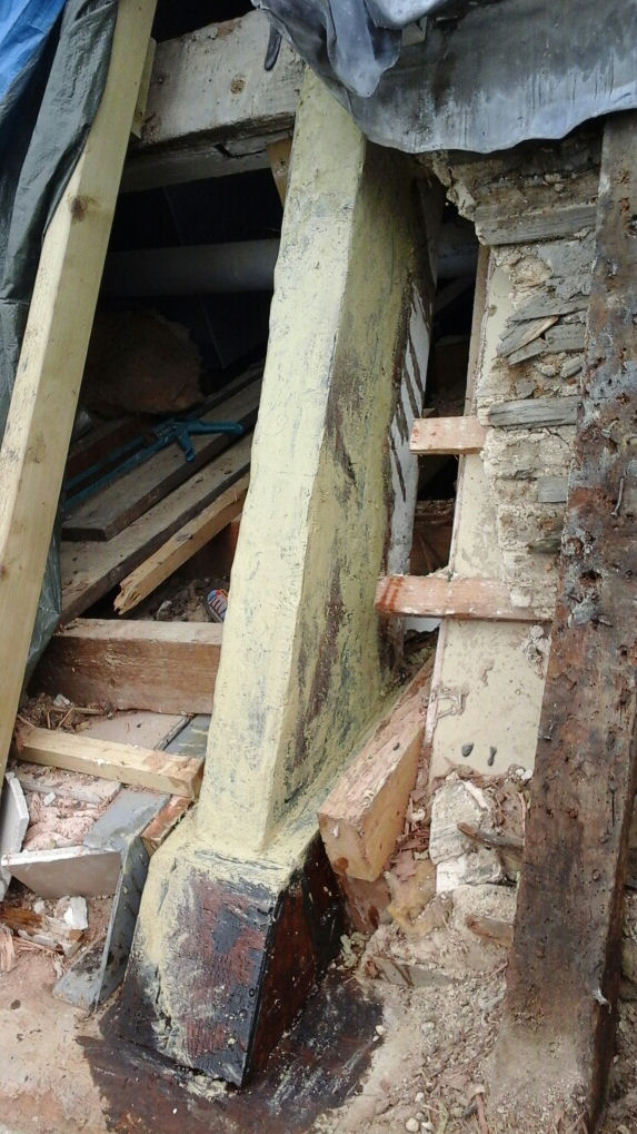 Completed Truss End Timber Repair