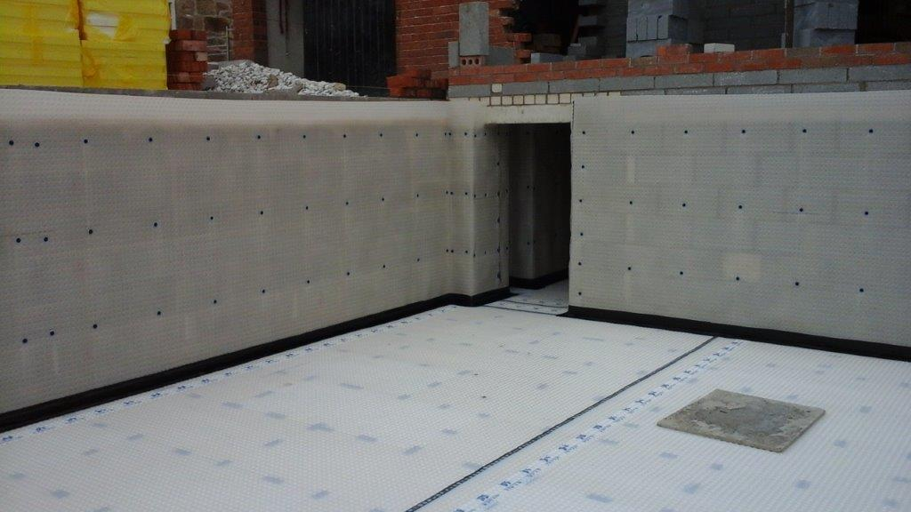 Type C (Drained Protection) Cavity Drain Membrane Installed to New Build Project