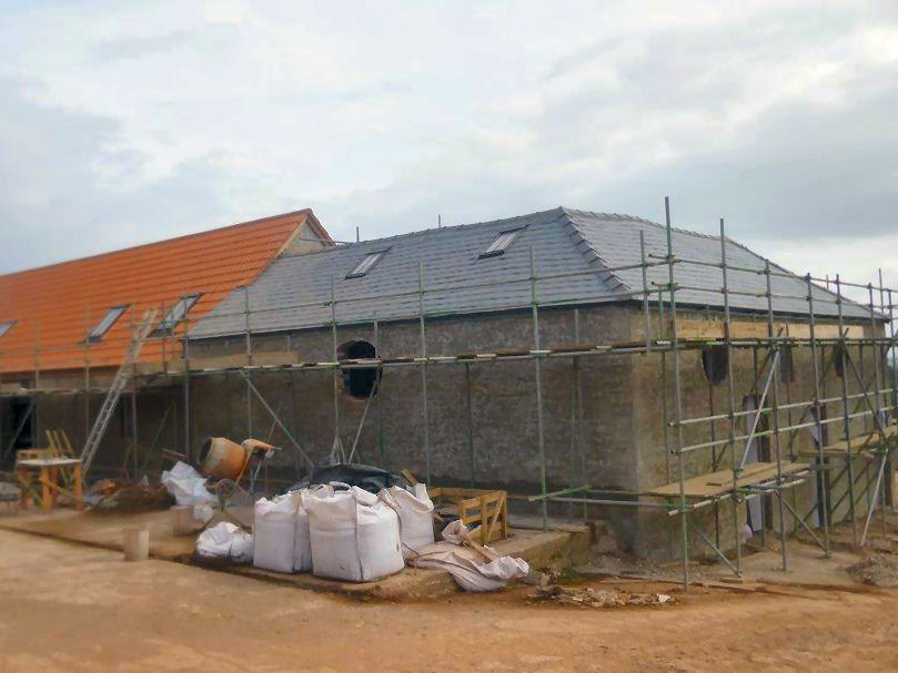 Barn Conversion In Progress - Structural Repair Work Undertaken.