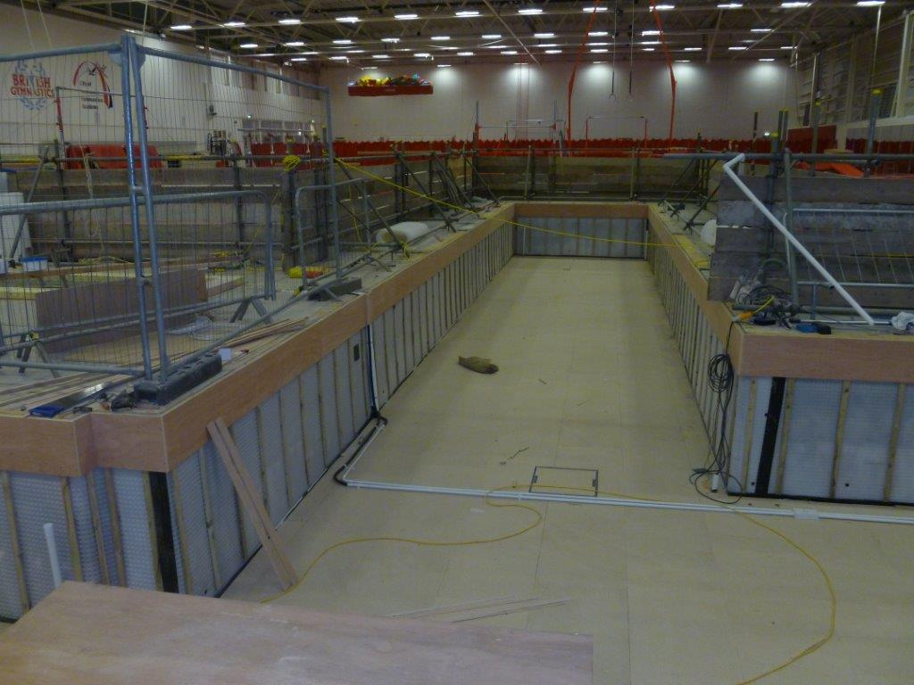Cavity Drain Membrane Fitted to Lower Level of Gymnastics Centre
