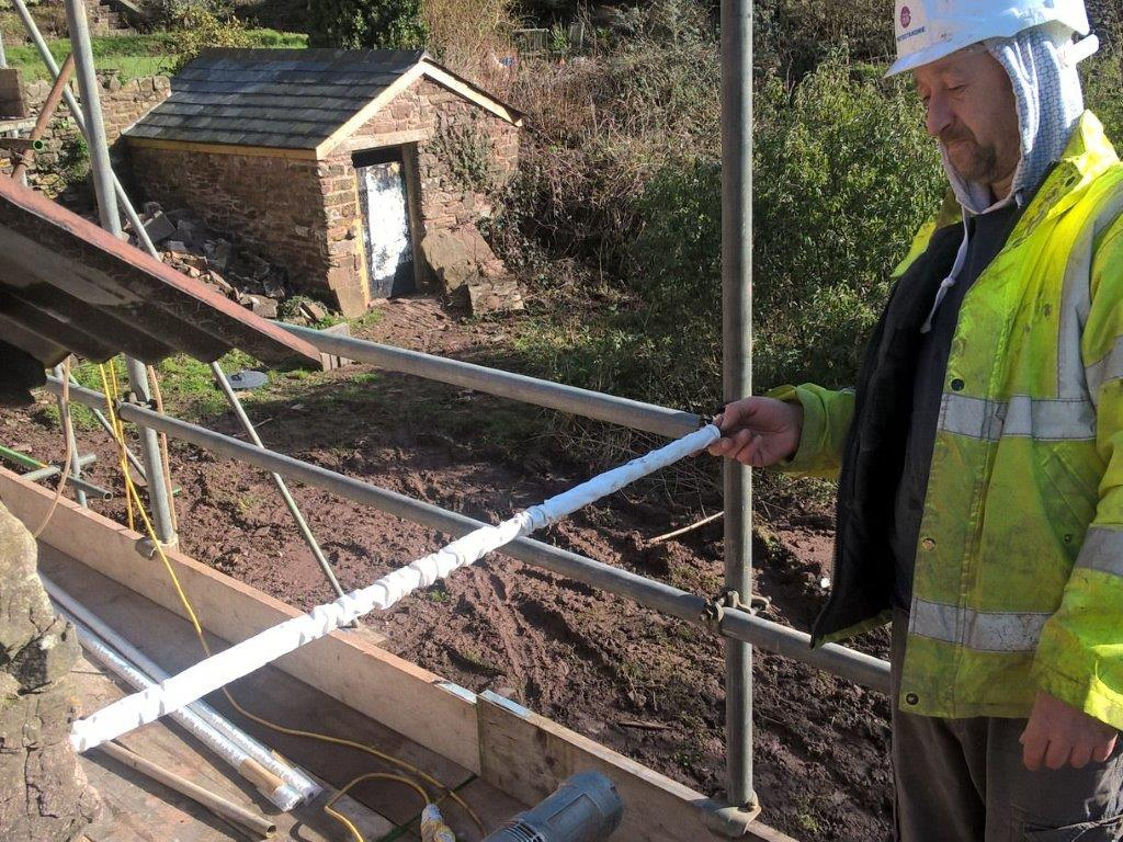 Cintec Sock Anchor Installation During Barn Conversion