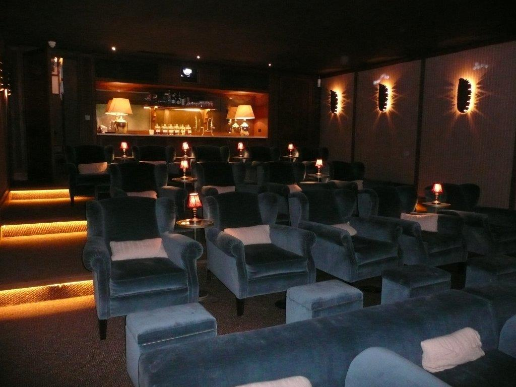Completed Home Cinema and Bar - Domestic Basement Conversion