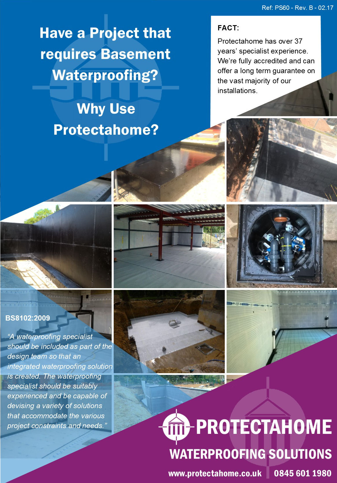 Basement Waterproofing, Why Use Protectahome