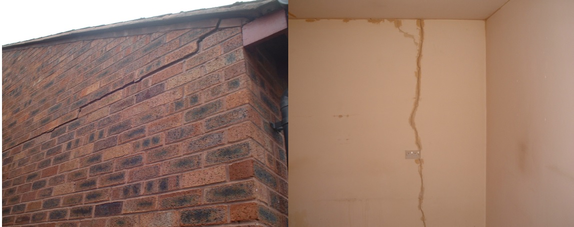 Cracking both Externally and Internally Allowing Water Ingress to Track to Interior Plaster Surfaces