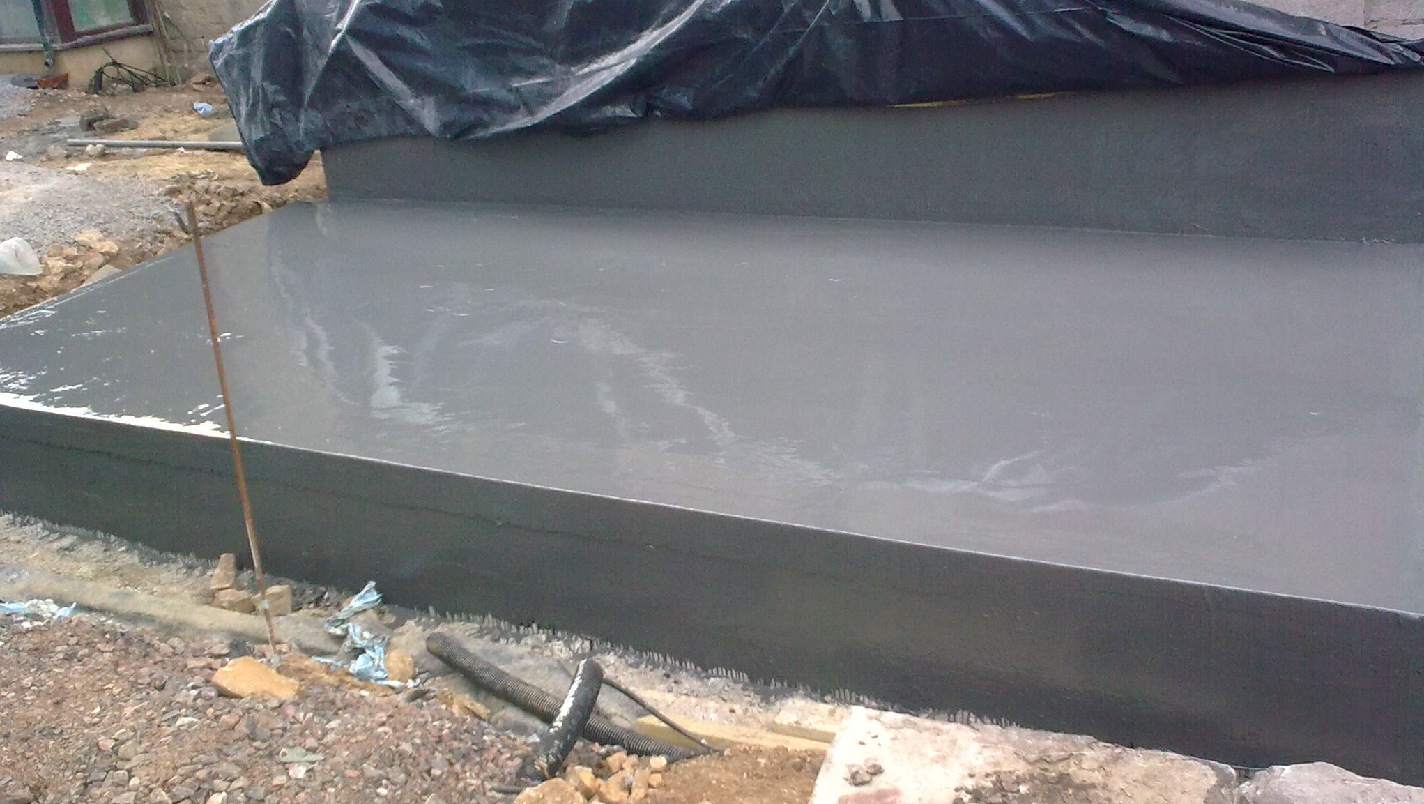 Polyurethane Liquid Membrane applied as part of Deck Waterproofing Installation