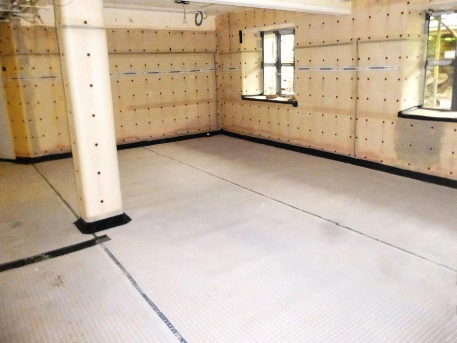 Type C (Drained) Waterproofing System Installed to Semi Basement of Office