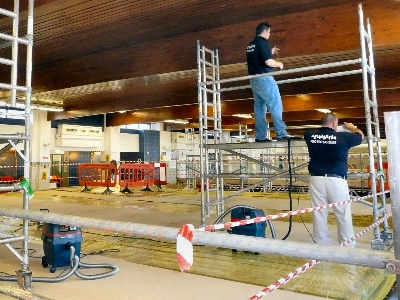 Glulam Repairs, Atherstone Leisure Centre