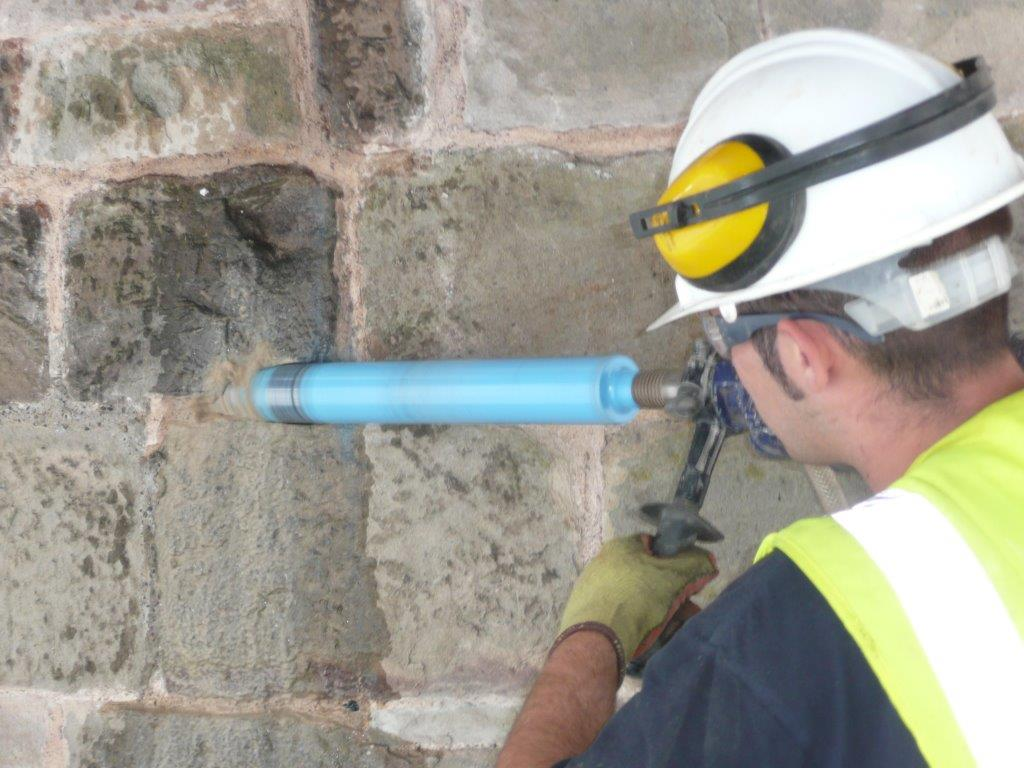 Diamond Drilling during Structural Repairs.