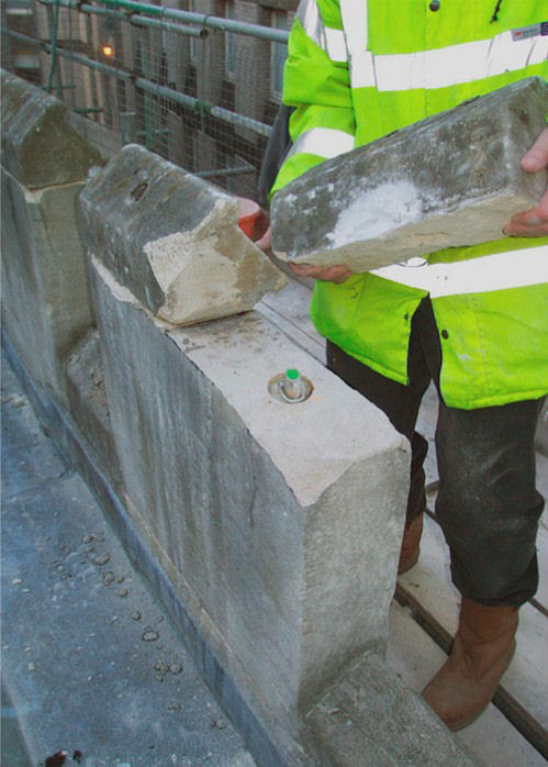 Parapet Stabilisation Anchors Installed
