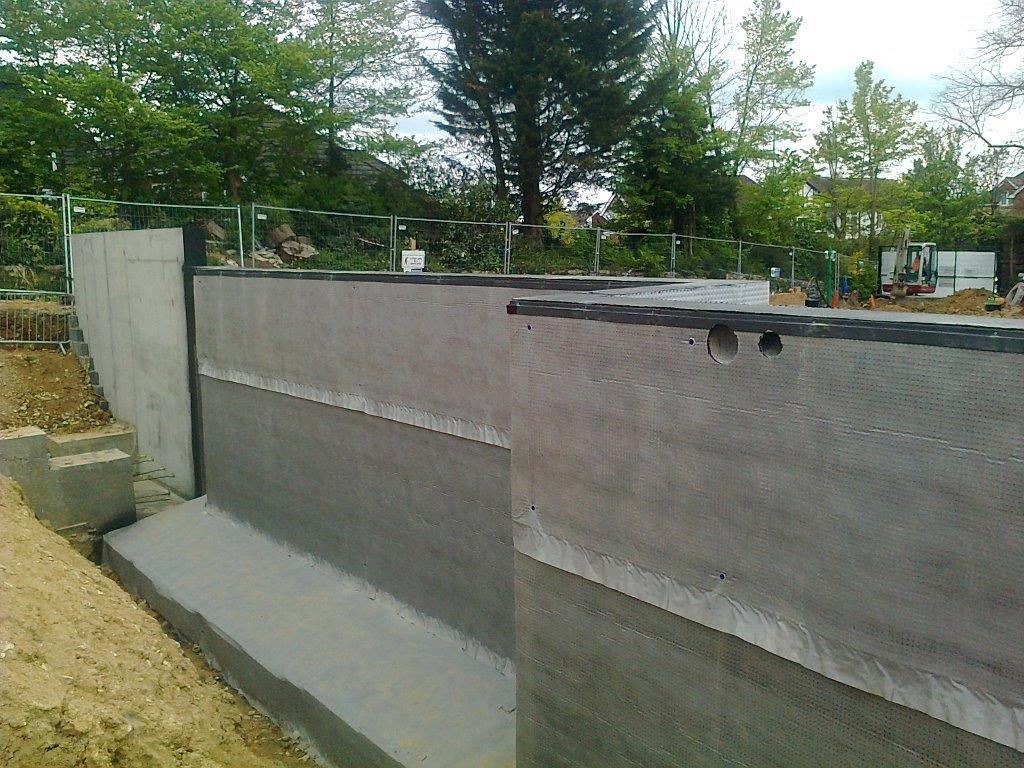 External Type C (Drained Protection) Membrane Installed to New Build Project.