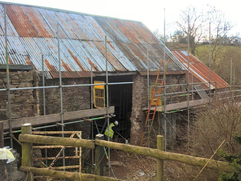 Protectahome Structural Repair Works during First Phase of Barn Conversion