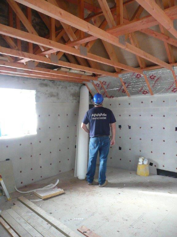 Protectahome Technician during Waterproofing Barn Conversions