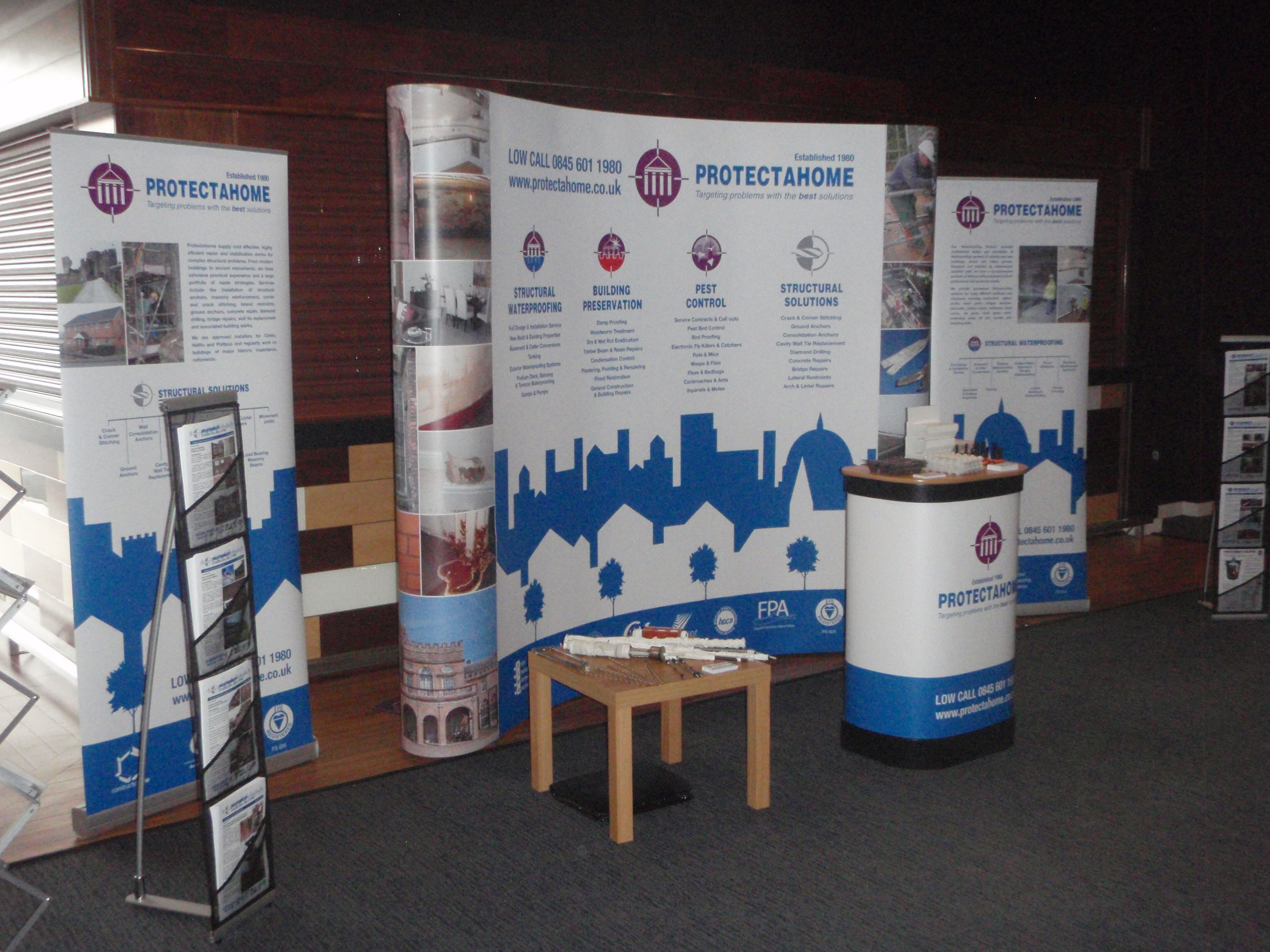 Protectahome Set Up Ready For CPD.