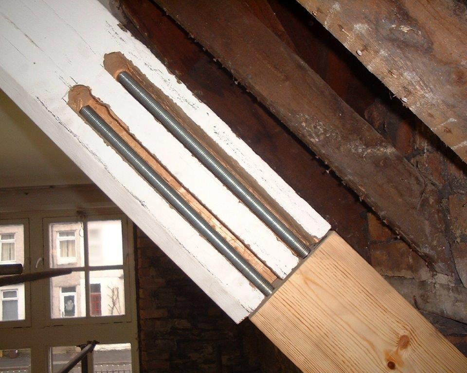 Timber Frame Replacement with internal working shown