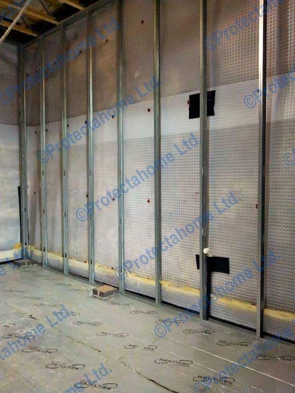 Cavity Drain Membrane installed at Flint Mill