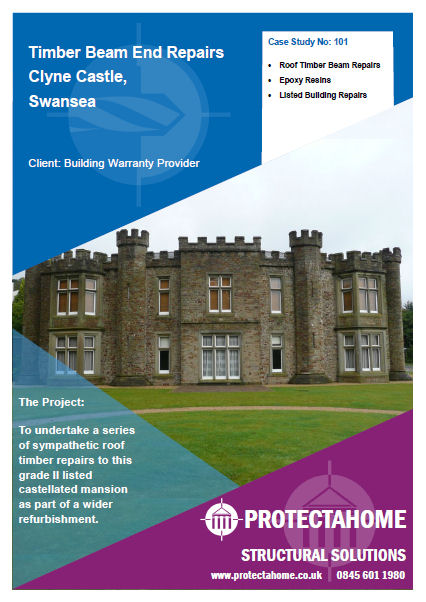 Clyne Castle Roof Timber Repairs Case Study