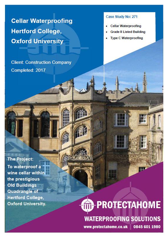 Basement Waterproofing Oxford