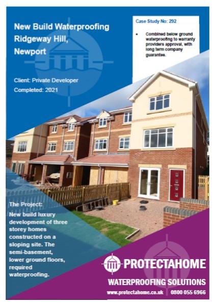 Ridgeway Hill, Newport - Waterproofing Case Study