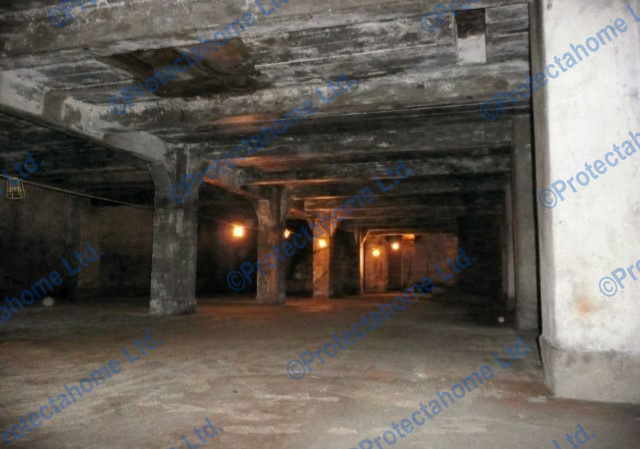 Cellar level prior to waterproofing works