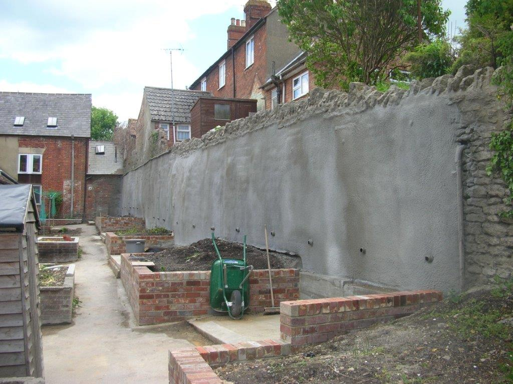 Completed Retaining Wall With Finish