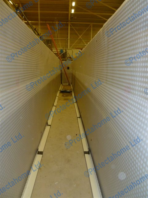 Waterproofing Membrane and Drainage Channel installed