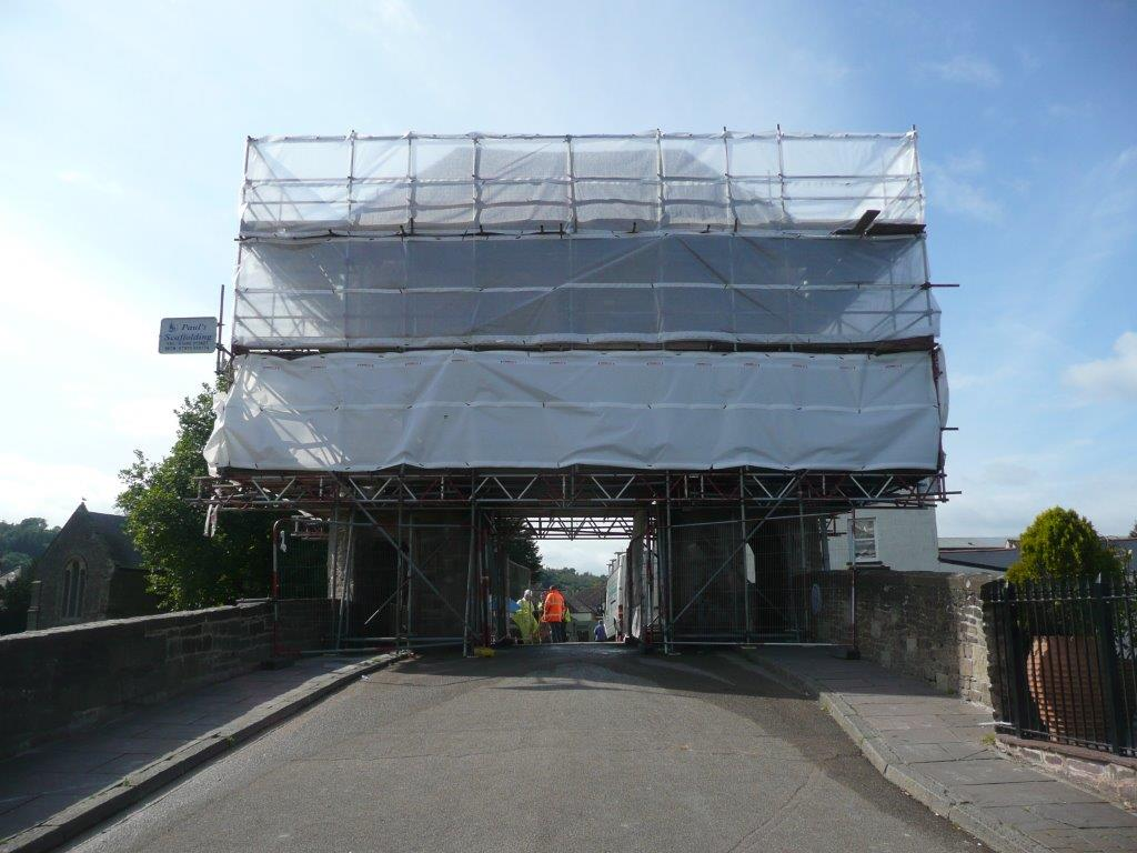Structural Repairs at Monnow Bridge, Monmouth