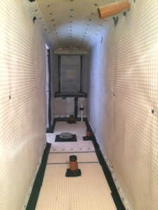 Domestic Basement Conversion Using a Type C (Drained) Waterproofing System.